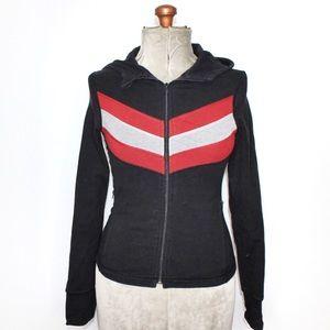 Vintage Lululemon Black White Red Zip Up Sweater